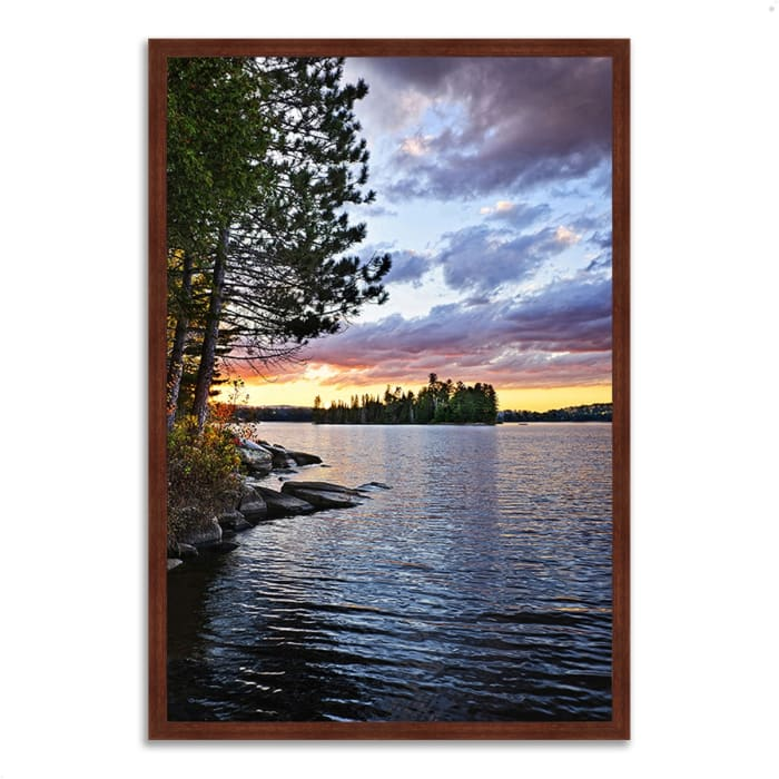 Framed Photograph Print 22 In. x 32 In. Lake of the Two Rivers Multi Color