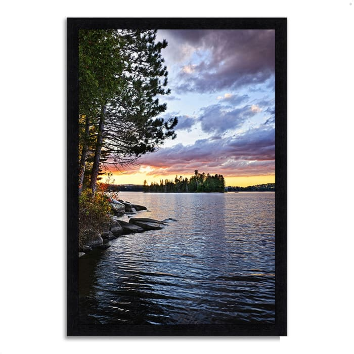Framed Photograph Print 33 In. x 46 In. Lake of the Two Rivers Multi Color