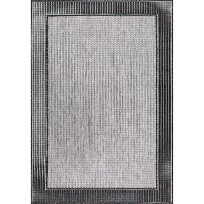 Machine Made Outdoor Gris 5' x 8' Gray Rug