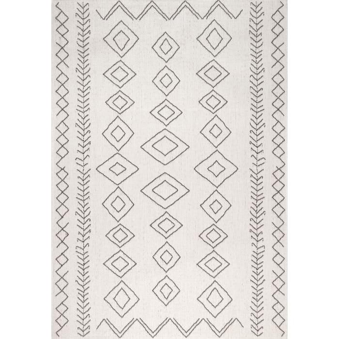 Serna Outdoor 6' x 9'  Ivory Rug