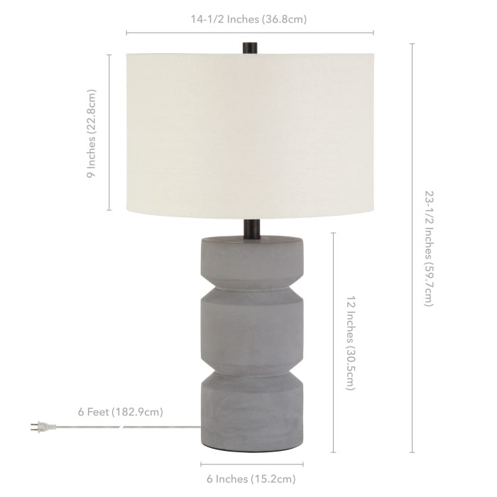 Reyna Concrete Table Lamp