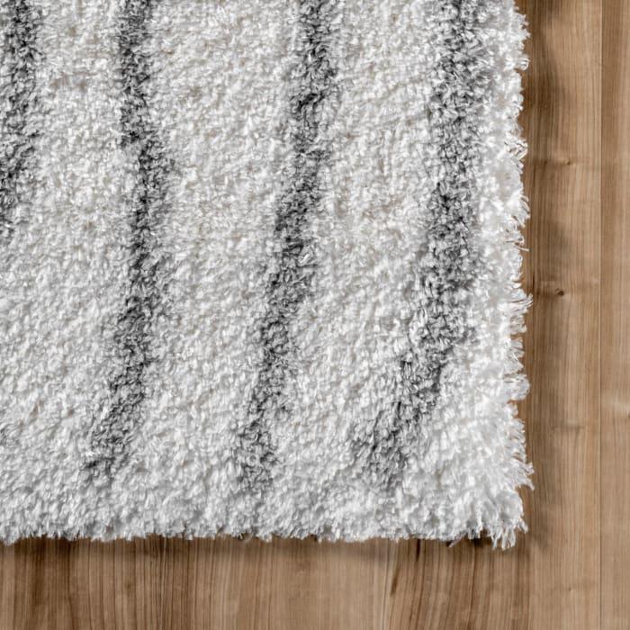 Renata Moroccan Shag 5' x 8' Gray Rug