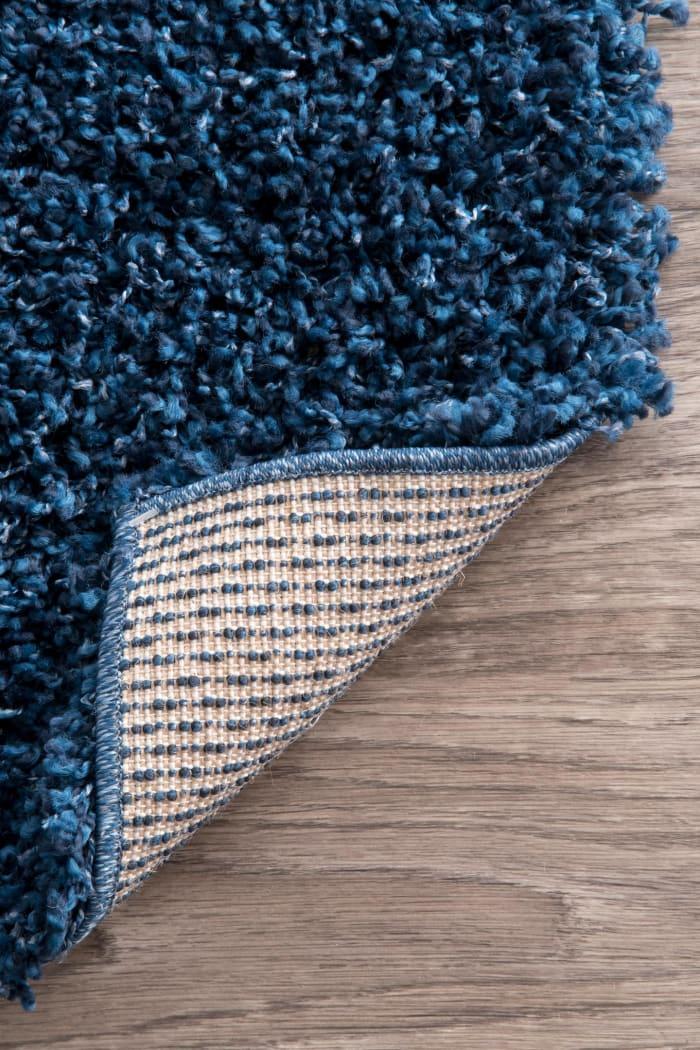 Marleen Plush Shag 8' x 10' Navy Rug