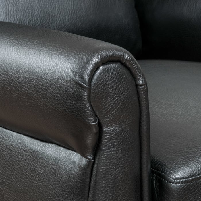 Faux Leather Black Recliner