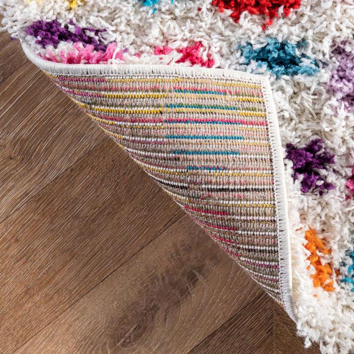 Allard Striped Shag 5' x 8' Multi Rug
