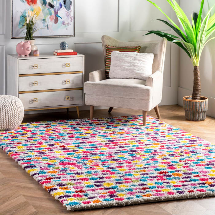 Allard Striped Shag 8' x 10' Multi Rug