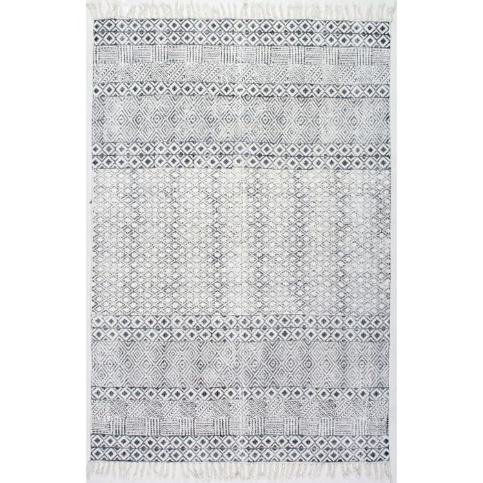 Hand Made Ammie 5x8 Gray Cotton Rug