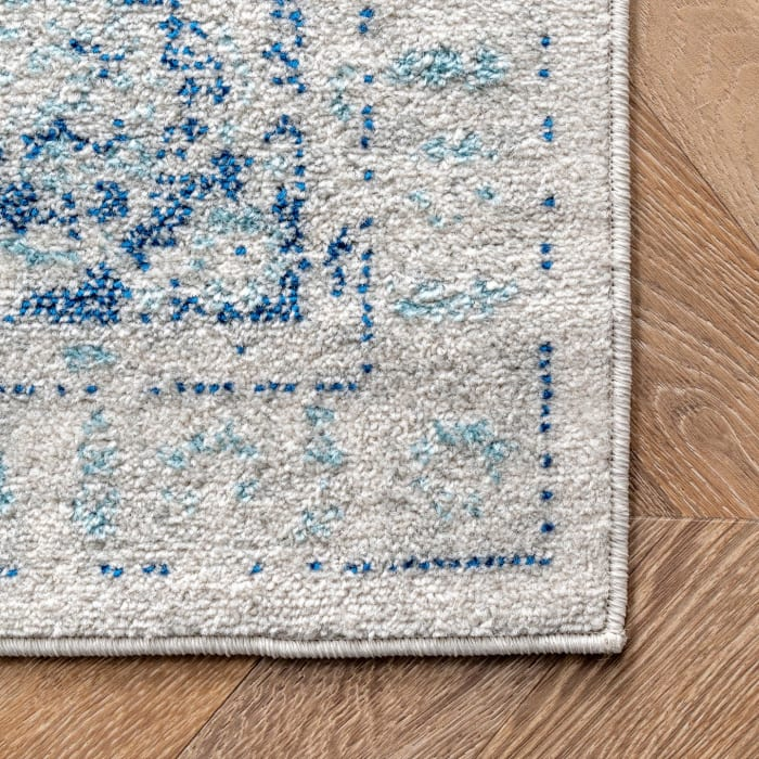 Vintage Pauley 5' x 8' Light Blue Rug