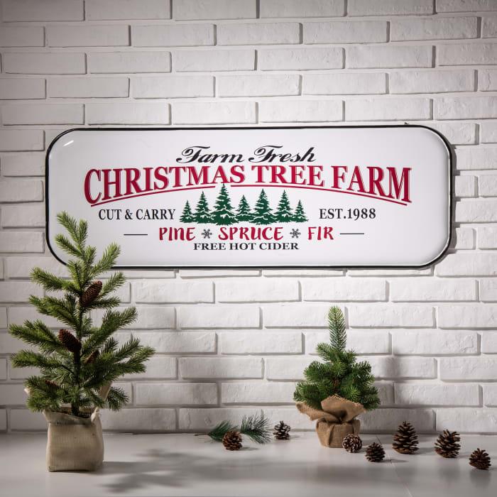 Enamel Christmas Tree Farm Sign