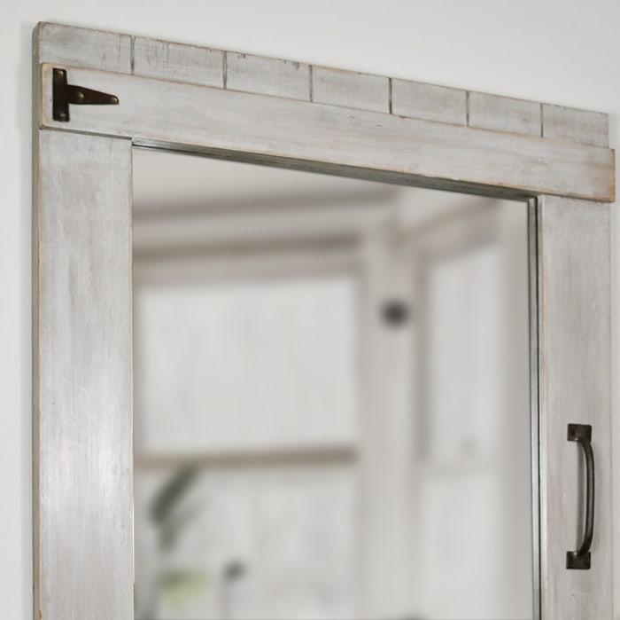 Weathered Barn Metal Mirror