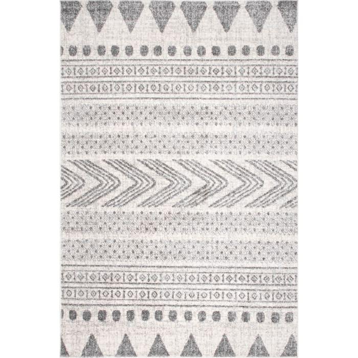 Shaina Tribal 8x10 Gray Rug