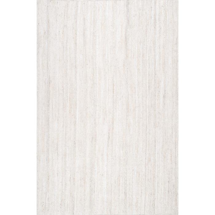Hand Woven Rigo Jute 8x10 Off White Jute Rug