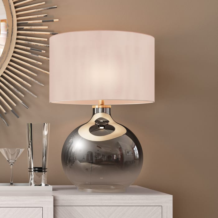 Laelia Ombre Plated Glass Table Lamp