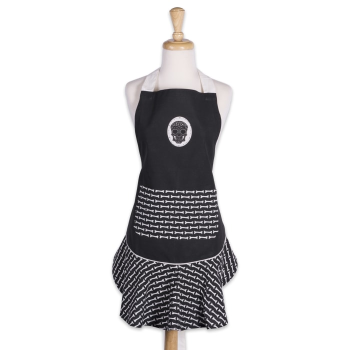 Day of the Dead Ruffle Apron
