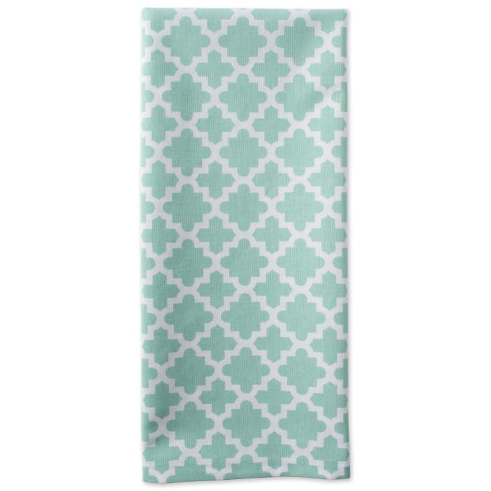 Geometric Aqua Dishtowel Set