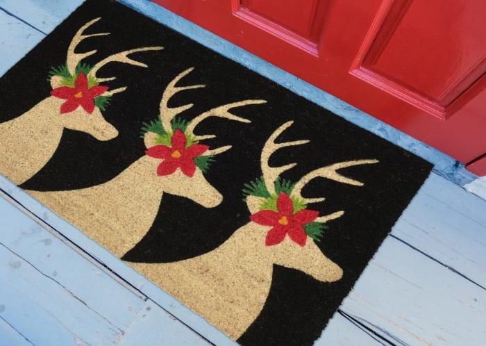 Festive Reindeer Doormat