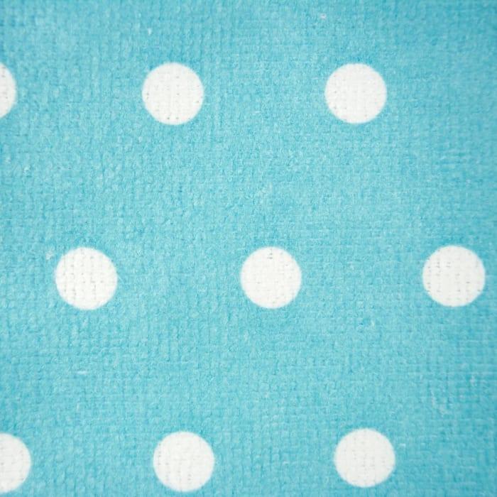 Teal Dots Mixed Dish Towel Set of 4