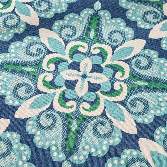 Floral Blue & Green Rug  5'25