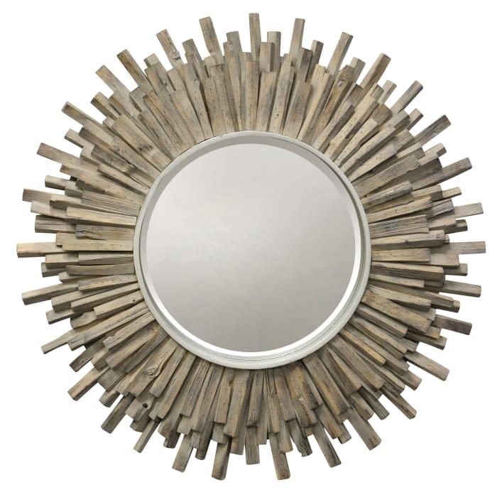 Complex Natural Wood Wall Mirror