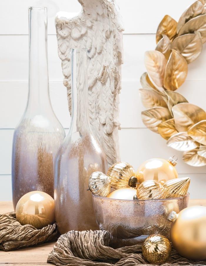 Large Brown Ombre Speckled Bottle Vase