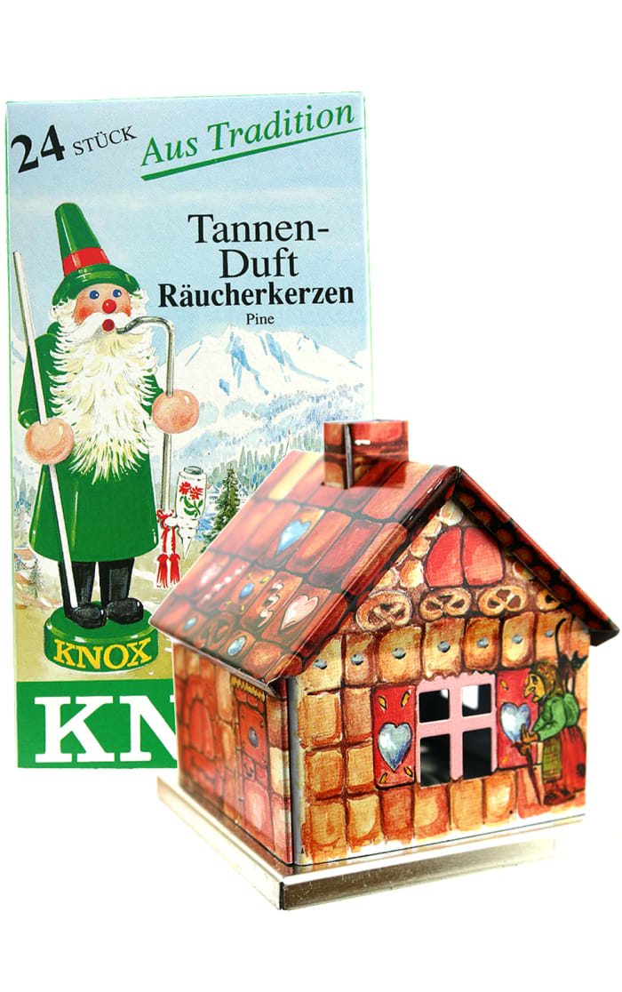 Gingerbread Incense with House-Shaped Burner