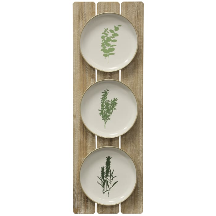 Herbs Plates Wall Accent