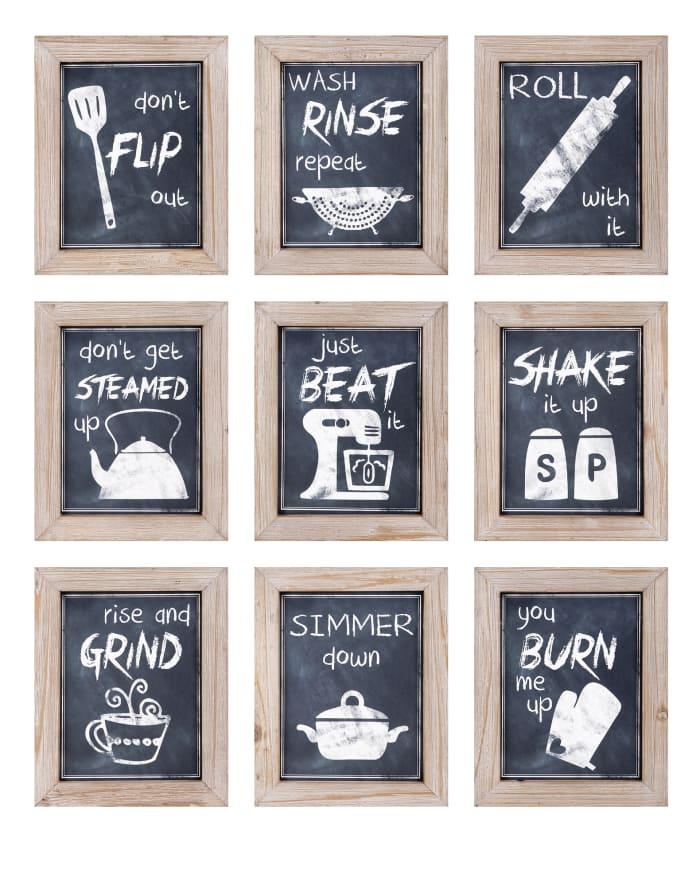 Kitchen Sentiments Wall Decor Set