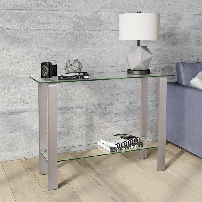 Asta Satin Nickel Console Table
