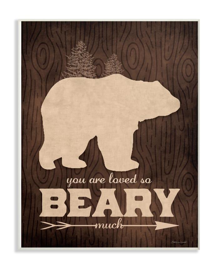 Rustic Love Wood Grain Wall Plaque Art