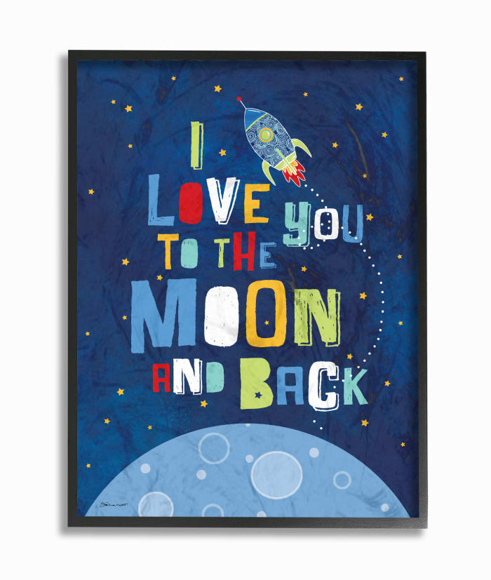 Outer Space Love Framed Giclee Texturized Art