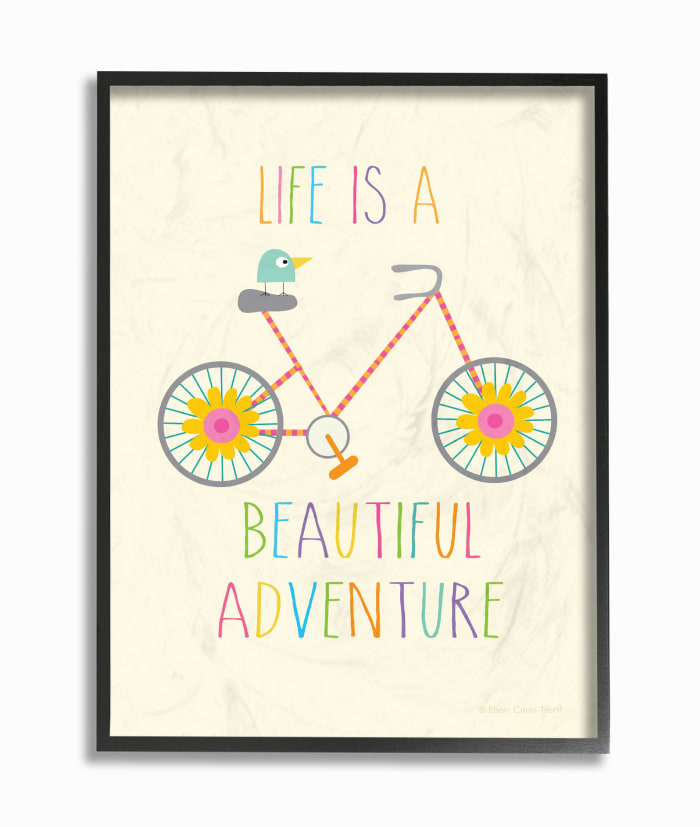 Bike Adventure Framed Giclee Wall Art