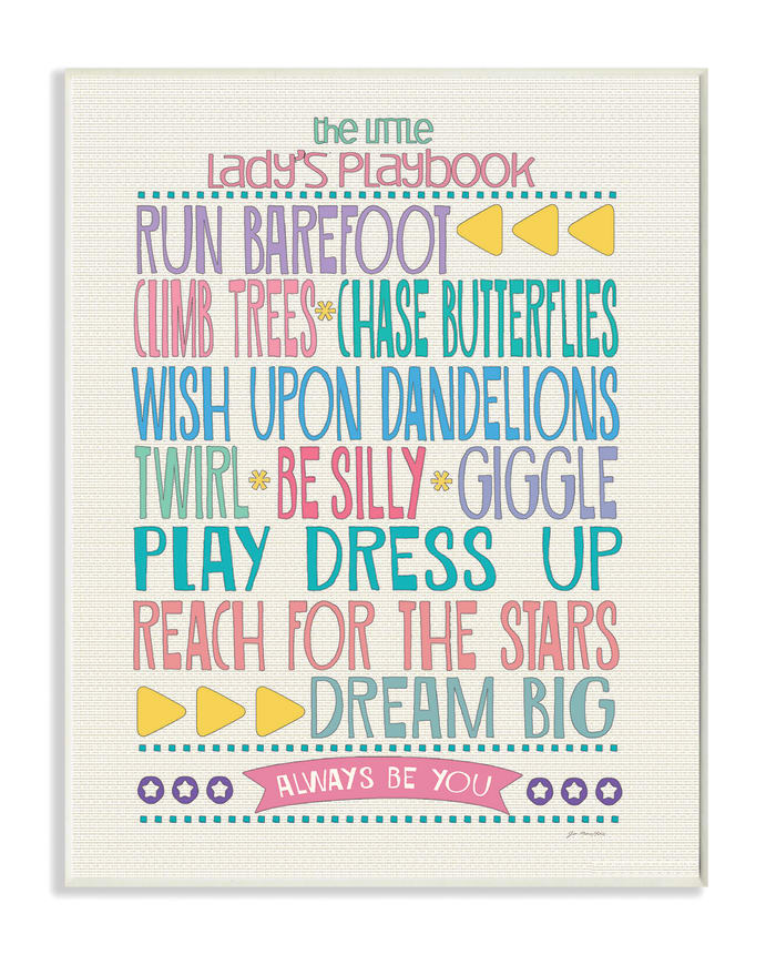 Lady's Playbook Wood Plaque Wall Art