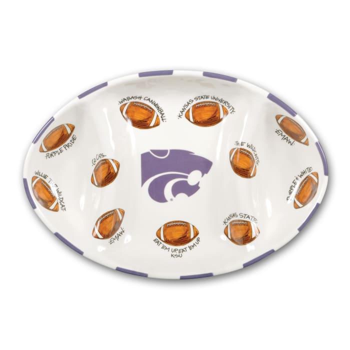 Kansas State Ceramic Football Tailgating Platter