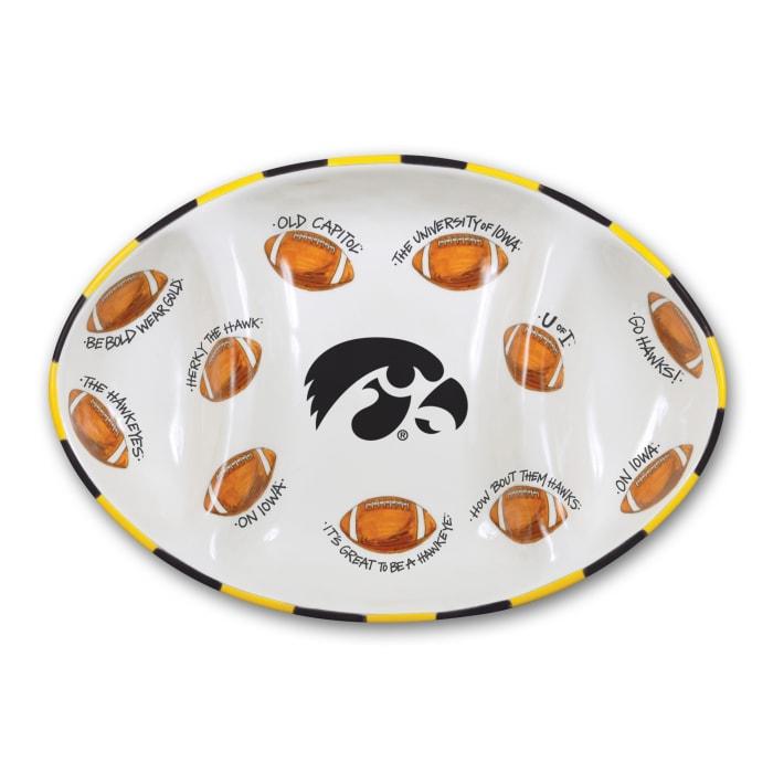 Iowa Ceramic Football Tailgating Platter