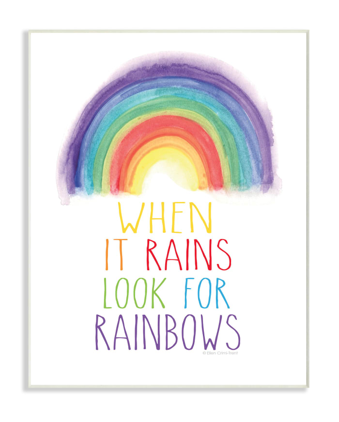Rainbow Search Wall Plaque Art