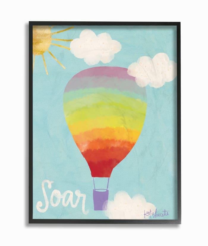 Soaring Sky High Framed Giclee Texturized Art