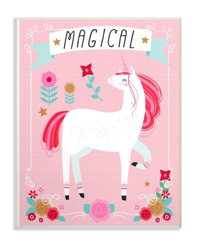 Magical Unicorn Wood Plaque Wall Art