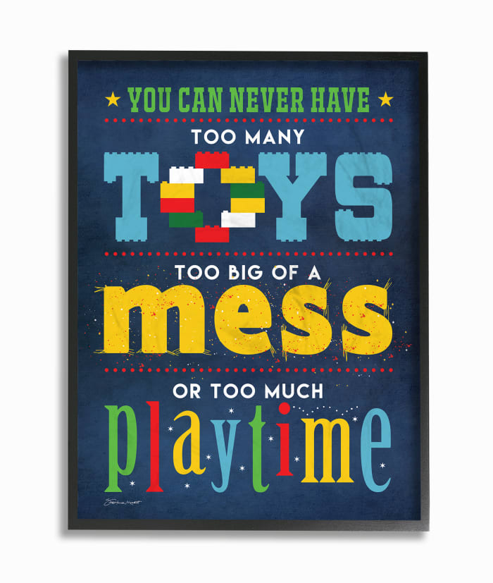 Too Much Playtime Framed Giclee Wall  Art