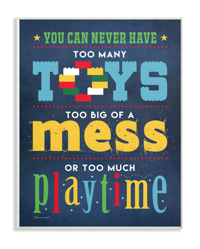 Too Much Playtime Wall Plaque Art