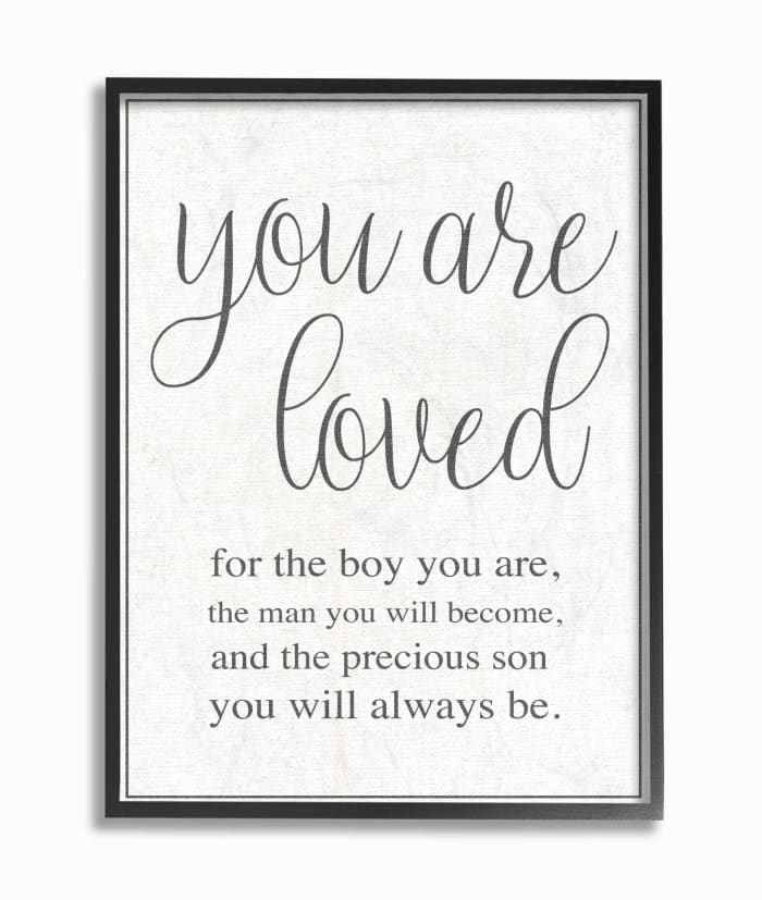 You Are Loved Framed Giclee Texturized Art