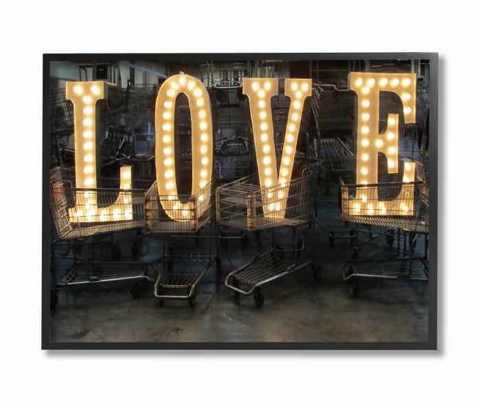 Love Marquee Framed Giclee Wall Art
