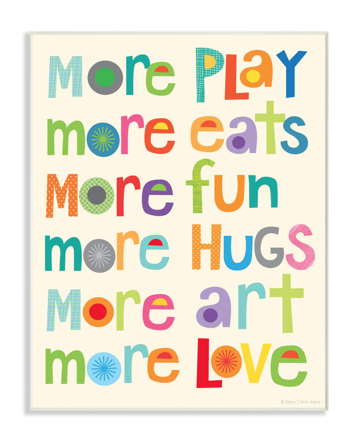 More Play Wood Plaque Wall Art