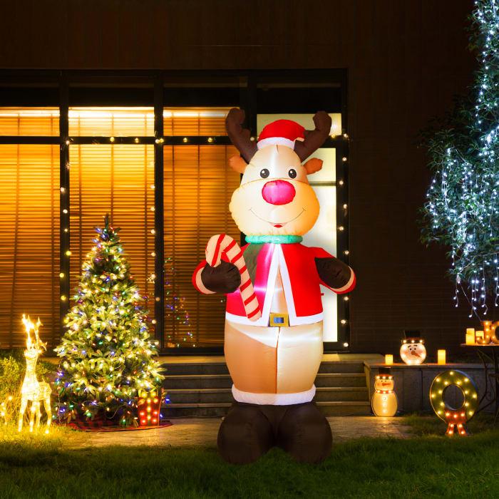 Pre-Lit Outdoor Inflatable Reindeer
