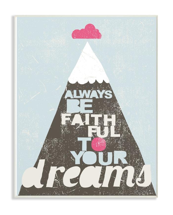 Faith Mountain Wall Plaque Art