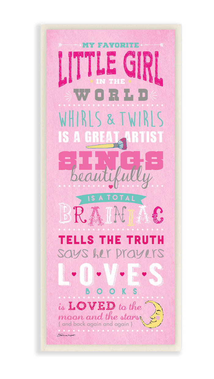 Pink Favorite Wall Plaque Art
