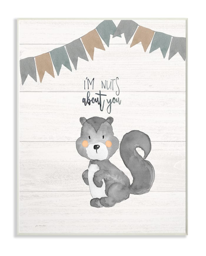 Silly Squirrel Wall Plaque Art