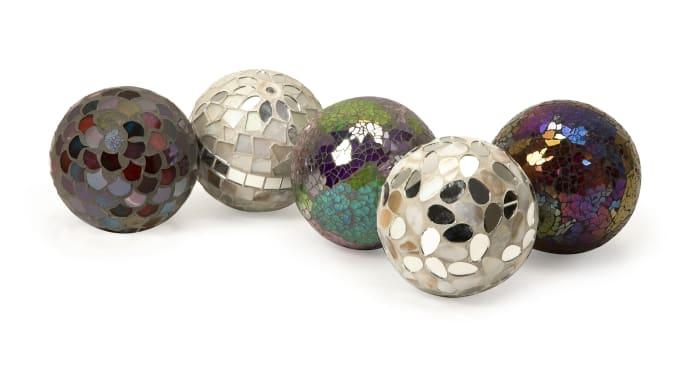 Mosaic Decorative Sphere Set