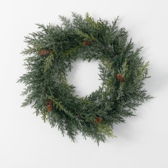 Frosted Arborvitae Wreath