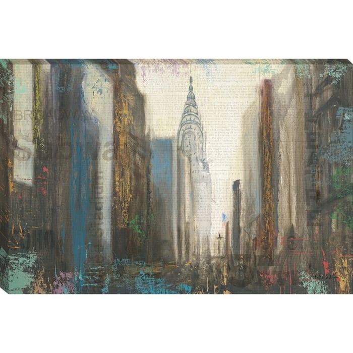 Urban Movement I Ny By Myles Sullivan 45 x 30  Gallery Wrap Canvas Black and White