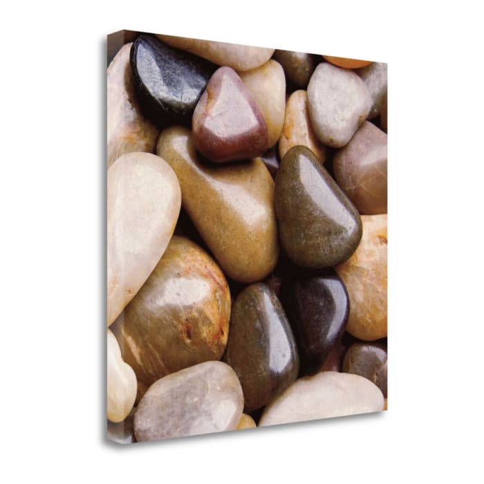 River Rocks By Jeff 22 x 22 Gallery Wrap Canvas